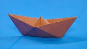 Origami paper boat simple (used)
