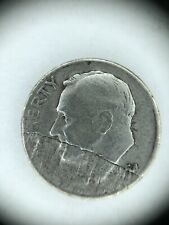 Rare 1954-D Roosevelt Silver Dime Error struck on Laminated Planchet Mint