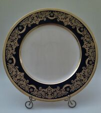 "Lenox 10.5"" Dinner Plate, Cobalt Blue W/ Gold Encrusted Band & Gilt Design"