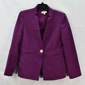 Tahari ASL Women's One-Button Blazer Suit Jacket, Purple, Size 8 - M, NwoT