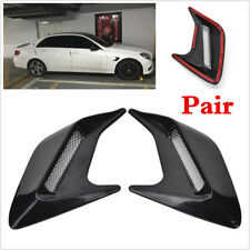 DIY Car Side Air Vent Fender Cover Intake Duct Flow Grille Sticker Universal X 2