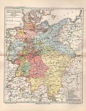 Deutschland Deutscher Bund 1815-1866 Geschichtskarte Landkarte aus 1894