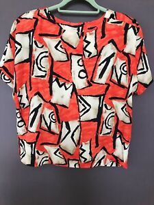 New Jacques Vert Women's Summer Printed Top + Skirt Set Two Pieces