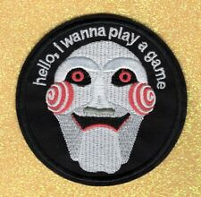 "Billy the Puppet, ""Hello, I Wanna Play a Game"" embroidery patch"