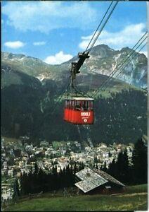 Postcard BBBJ Luftseilbahn Davos Platz-Ischalp-Jacobshorn Switzerland 1974 origi