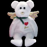 "TY Beanie Baby ~ GIFT the white LOVE Angel Bear ~HALLMARK Exclusive 9""...NEW"