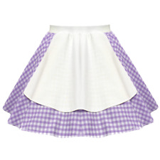 "Ladies Gingham Apron 17"" Skirt OCTOBER FEST Peasant GIRL FANCY DRESS Costume"