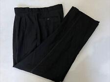Ermenegildo ZEGNA Men's Black Solid Wool Dress Pants 35X31 $325