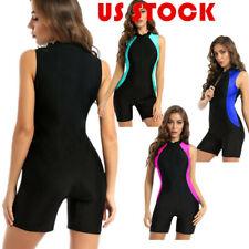 Women's Sleeveless Swimwear Unitard Swimming Suits Tummy Control Jumpsuit Tops