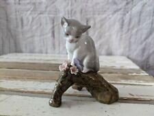 Lladro kitten 8382 blossoms flower branch cat figurine butterfly tree