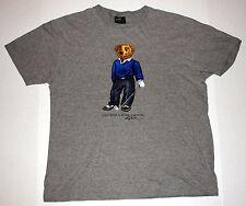 Vintage 1990s Polo Bear by Ralph Lauren Golfing Mens M Short Sleeve Gray T-Shirt