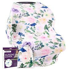 Nursing Cover Carseat Canopy – Ultra Soft and Stretchy Fabric – Breastfeeding Sc