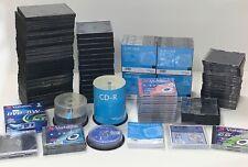 CD DVD custodie rigide buste trasparenti GRANDE LOTTO +200 pezzi