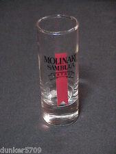 CLEAR THICK GLASS SHOT GLASS MOLINARI SAMBUCA EXTRA 4 INCHES HIGH