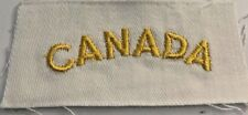 "Canadian Armed Forces Gold Embroidered ""CANADA"" Patch   3 1/2"" X 1 1/2""  #4968"