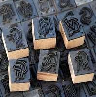 Jugendstil Wäschestempel Monogramm Initial Schablone Stempel über 250 z. Auswahl