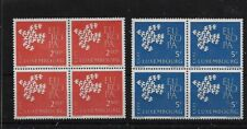 LUXEMBOURG SG697/8, 1961 EUROPA MNH BLOCKS OF FOUR