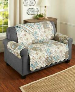 Floral Quilted Furniture Covers Slipcovers Protectors Chair Loveseat Sofa Couch