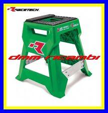 Cavalletto centrale RACETECH R15 WORX CROSS ENDURO MOTARD PITBIKE (Verde)