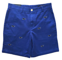 "VINEYARD VINES Mens 9"" Whale Embroidered Breaker Shorts Blue NWT $98 SIZE 30"