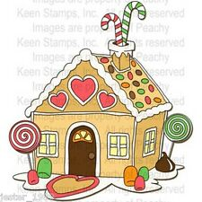 Peachy Keen Stamps  GINGERBREAD HOUSE PK-413