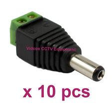 10x 2.1mm x 5.5mm DC 12V 24V Male CCTV Camera Power Connector Adapter Plug Jack