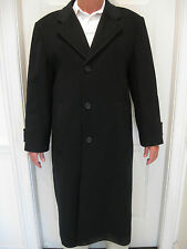 COLOMBO BORGOSESIA NAVY BLUE WOOL / CASHMERE COAT SIZE EU 50,US 40