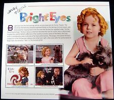 SHIRLEY TEMPLE STAMPS SHEET OF 4 FROM LIBERIA WIZARD OF OZ BRIGHT EYES TOTO