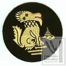 New Lancashire Embroidery Chindits Blazer Badge