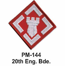 "3"" 20TH ENG. BDE. Embroidered Military Patch"