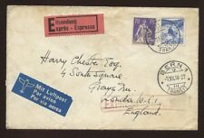 SWITZERLAND 1938 EXPRESS DELIVERY AIR COVER to GB