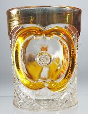 EAPG - U.S. Glass Co - No. 15104 VICTORIA - Amber Stained Tumbler