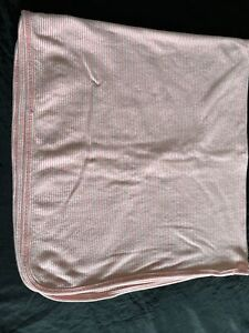 Carters Baby Blanket Cotton Security Lovey Wrap Pink White Stripe