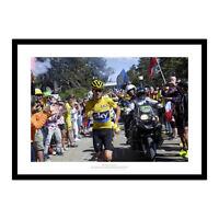 Chris Froome Runs to Finish Line 2016 Tour de France Photo Memorabilia (578)