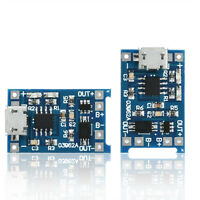 2PCS DIY 5V Micro USB 1A 18650 Lithium Battery Charging Board Charger Module