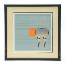 """Charley Harper Signed Limited Edition Serigraph """"Lovey Dovey"""""""