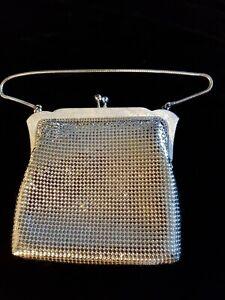Vintage 1970s Silver Oroton Evening Bag In Original Box