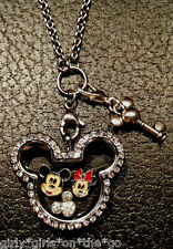*MICKEY & MINNIE MOUSE* Floating Charms, an Origami Owl Crystal & Locket Set