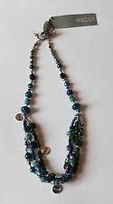 Exoal Halskette Collier blau 1408-1.10 silberfarben türkis Statement mehrreihig