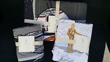 POTTERY BARN KIDS Star Wars DROID Twin Quilt Sheets & Sham 5 pc Set NEW