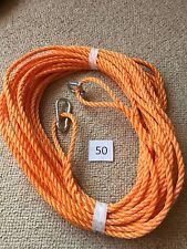 50 ft 8mm cuerda del ancla Pesca RIB Kayak Vela Con Mosquetón & D Grillete AA