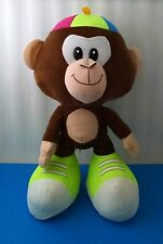 "Fiesta Large 17"" Big Foot Monkey Plush Stuffed Animal w/ Propeller Hat"