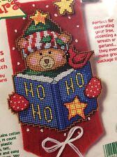 "Cross Stitch Mini Kit ~ Dimensions CHRISTMAS Banner Complete Kit 6.5"" Bear, Star"