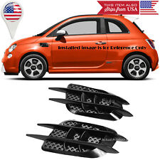 """8.5"""" x 3.5"""" ABS Black Side Fender Intake Air Vent w/ Mesh Insert Trim For Ford"""
