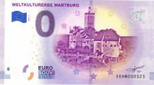 Billets Euro Schein Souvenir Touristique 2019 Weltkulturerbe Wartburg