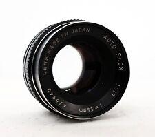 Vintage AUTO FLEX JAPAN 55mm 1.7 Prime Lens for M42 fit