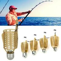 10 Pcs Carp Fishing Feeder Lure Cage Feeders Trap Basket with Lead Sinker Bait
