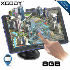 "XGODY 7"" PKW Auto GPS Navigation Navigationsgerät 8GB 256MB Navi Lifetime Maps"