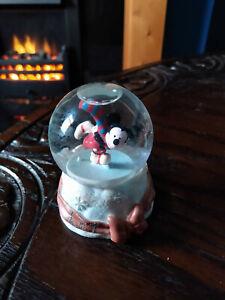 Disney Mickey Mouse Ice Skating Christmas Snow Globe Rare - Good Condition