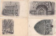 Lot 4 cartes postales anciennes REIMS 1